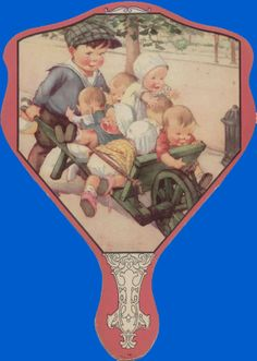 vintage paper advertising fans Antique fan (page two) stock noy34/1b is a fontange-shaped paper fan showing a bucolic harvest scene of semiclad maidens carrying grapes or apples and others dancing to the sound of the pipes of pan it advertises the monico it measures 24cms long.