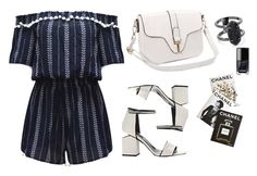 """""""Untitled #1661"""" by anastasiiastyles ❤ liked on Polyvore featuring WithChic, Alexander Wang, Kendra Scott, Chanel and Assouline Publishing"""