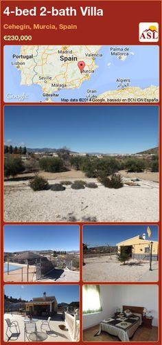 4-bed 2-bath Villa in Cehegin, Murcia, Spain ►€230,000 #PropertyForSaleInSpain