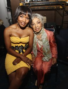Angela Bassett and Ruby Dee -- Black Hollywood Royalty and members of Delta Sigma Theta