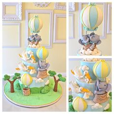 A Wish and a Whisk Cake   June #2015 #awishandawhisk Up, up, and away with baby elephants!