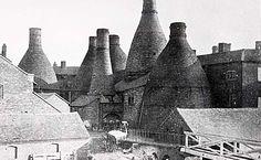Spode works showing yard and bottle kilns