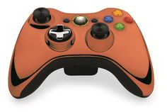 Custom Xbox 360 Controller  Wireless Glossy Half-Green Beige-And-Half-Red Lilac- Without Mods