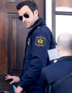 Boy in blue: Justin Theroux, was seen dressed as a police officer in New York on Thursday while filming upcoming series The Leftovers Upcoming Series, Hot Cops, Justin Theroux, Movies And Series, Liv Tyler, Men In Uniform, Dress For Success, Man Photo, Celebs