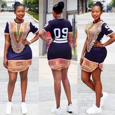 Dashiki Side Split Zipped Digital T-shirt Latest African Fashion Dresses, African Print Dresses, African Print Fashion, African Dress, Ankara Fashion, African Attire, African Wear, African Style, African Beauty
