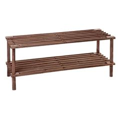 Sort It Wooden Shoe Rack 2 Tier