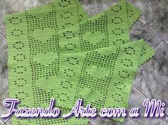 Jogo de tapete 3 peças em Crochê