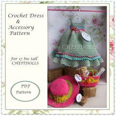 ADDITION PATTERN.. Crochet doll outfit & accessorie por chepidolls