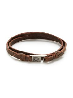Harrison Leather Double Wrap by griffin at Gilt