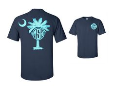 A personal favorite from my Etsy shop https://www.etsy.com/listing/280134854/glitter-palmetto-tree-and-moon-monogram