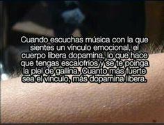 Lo que provoca la musica.