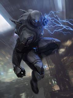2013  |  Concept art  |  Game  |  Galaxy Saga (Applibot inc.)  |  Berserker of destruction