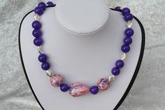 Ketten kurz - Kette lila rosa silber Schmuck - ein Designerstück von trixies-zauberhafte-Welten bei DaWanda