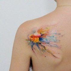 2017 trend Watercolor tattoo - watercolor-tattoos-42...