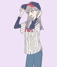 Image may contain: stripes Cartoon Kunst, Cartoon Art, Twice Fanart, Cute Art Styles, Drawing Clothes, Anime Art Girl, Anime Girls, Kawaii Girl, Anime Outfits