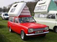 1969 Ford Escort Mk I Camper Ford Transit Camper, Truck Camper, Mini Camper, Camper Van, Ford Escort, Escort Mk1, Classic Cars British, British Car, Gp F1