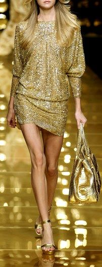 ELIE SAAB RTW Spring 2007 | golden | fully beaded and embellished cocktail dress | high fashion