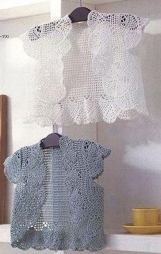 crochet cute lace jacket      ♪ ♪ ... #inspiration_crochet #diy GB