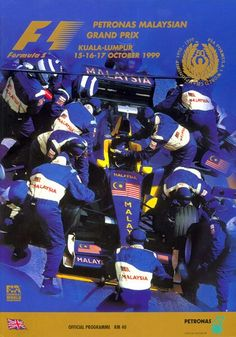 1999 Malaysian Grand Prix Program. The 1999  F1 race was the first official Formula 1 race in Malaysia.  The 56-lap race was won by Eddie Irvine driving a Ferrari from a second position start. Michael Schumacher, in his first race back since breaking his leg during that season's British Grand Prix at Silverstone, and who started from pole position, finished second with Mika Häkkinen finishing third driving for McLaren. #F1 #Formula1 #MalaysiaGP #KualaLumpur #SepangCircuit