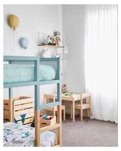 Kura Cama Ikea, Trofast Ikea, Ikea Kids Bed, Ikea Bed, Kura Bed Hack, Ikea Kura Hack, Ikea Hacks, Kids Double Bed, Rental Home Decor