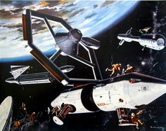 /by ?? #retro #space #illustration #1963