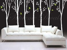 Made in US - Free Custom Color - Tree Decals Vinyl Wall Art - 7 Big Cool Trees(88inch H) - Stickers Home Decor Wall Mural by PopDecals, http://www.amazon.com/dp/B004YPO30A/ref=cm_sw_r_pi_dp_7wrrqb0KAR3JY