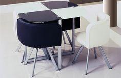Global D536DT-WH-BL+536DC-WH-BL Diningroom Set - White&Black diningroom set. Modern dining set consist of: white&black dinning table, 2 white chairs, 2 black dining table.