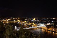 Elizabeth Bridge, Budapest, Hungary / Erzsébet híd by Istvan Benedek on Night City, City Streets, City Lights, Wonders Of The World, Landscape Photography, Places, Nature, Dan Brown, Budapest Hungary