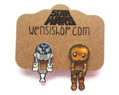Best Friend Bots (Star Wars Inspired) Cling Earrings
