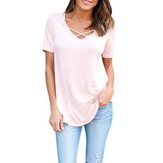 >> Click to Buy << Women T-Shirt Summer Sexy V Neck Lace Up Short Sleeve Hollow Out Shirts Casual Blusas Tees Tops Plus Size Blusas #Affiliate
