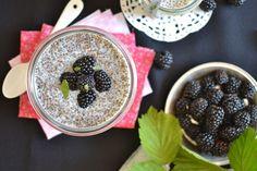 Pudding de chia à la vanille Patisserie Vegan, Chia Pudding, Acai Bowl, Gluten, Deserts, Brunch, Nutrition, Juliette, Cooking