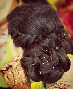 Hair style girl Step By Step for wedding Wedding Hairstyle Images, Wedding Hairstyles, Home Wedding, Hairstyles Haircuts, Indian Bridal, Bridal Makeup, Hair Cuts, Hair Color, Long Hair Styles
