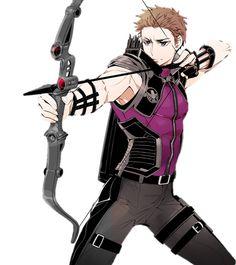 Hawkeye as an anime character. Oh gawd please help me!!!!!
