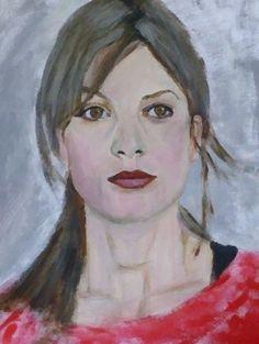 Sylvia Hoeks, Dutch actress, acrylic on paper