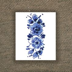 Floral vintage Dutch 'Delfts Blauw' temporary tattoo by Tattoorary Vintage Floral Tattoos, Vintage Flower Tattoo, Floral Vintage, Vintage Flowers, Tattoo Floral, Red Ink Tattoos, Blue Tattoo, Flower Tattoos, New Tattoos