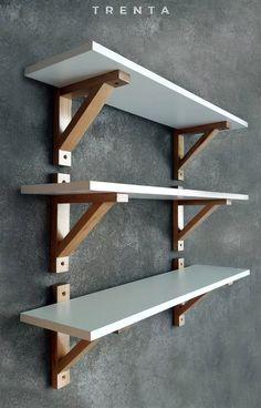 Diy Wood Shelves, Home Decor Shelves, Diy Hanging Shelves, Wall Shelves Design, Home Decor Furniture, Diy Home Decor, Diy Wood Projects, Wood Pallets, Woodworking