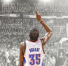Hard work beats telnet when talent fails to work hard! Durant Nba, Kevin Durant, Basketball Quotes, Basketball Teams, Sports Teams, Top Nba Players, Oklahoma City Thunder Basketball, Thunder Strike, Nba Tv
