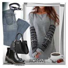 """""""romwe"""" by ilona-828 ❤ liked on Polyvore featuring romwe and polyvoreeditorial"""