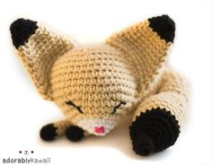Sleepy Fennec Fox Amigurumi | Craftsy