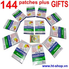 SALONPAS HISAMITSU,12 Packs x12=144 Patches, Muscle, Aches PAIN RELIEF #Salonpas