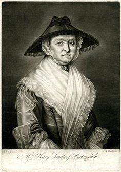 Portrait of the inn-keeper Mrs Smith, half-length directed to right, looking towards the viewer, wearing a cone-shaped dark bonnet over a frilled cap, a gown with gauze at the elbows and  a white shawl trimmed with lace worn high over the throat and shoulders; after Worlidge. Mezzotint 18th Century Dress, 18th Century Costume, 18th Century Clothing, 19th Century, White Shawl, European Paintings, Female Clothing, Caps For Women, British Museum