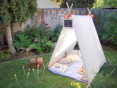 My sons and I built a collapsible tent together by making  two frames and attaching them together