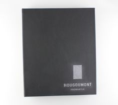 Leather   Turned In - Binder - Black SD Leather - White Foil Debossing