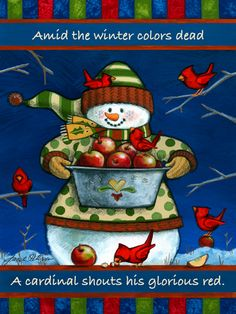 Winter is for the Birds: 'An Apple A Day' by Janet Stever