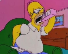 For a television show that needs no introductions, an impeccable collection of the fifty funniest Simpsons GIFs of all time! Simpson Wave, Bart Simpson, Futurama, Cartoon Wallpaper, Los Simsons, The Simpsons, Sad Day, Photos, Pictures