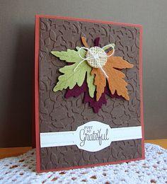 Papertrey Ink Leaf Prints Card...love this!