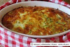 Fetás cukkini Vegetable Recipes, Vegetarian Recipes, Cooking Recipes, Healthy Recipes, Hungarian Recipes, Russian Recipes, Quiches, Classic Egg Salad Recipe, Vegan Menu