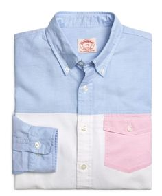 Oxford Fun Shirt with Pink Pocket - Brooks Brothers USD 39 Prep Style, My Style, Mens Designer Shirts, Mens Activewear, Well Dressed Men, Denim Outfit, Boys Shirts, Casual Shirts, Preppy