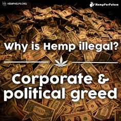 #Hemp can make thousands of products in multiple industries: textiles, paper products, plastics, pharmaceuticals, foods, bio fuels, etc. Using Hemp creates sustainable & durable products. For that reason large corporations seen it as a threat to their business and lobbied to criminalize it. The best way to change this is to increase the demand for Hemp products. Make Hemp part of your everyday.