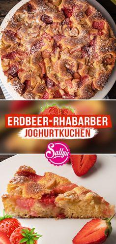 Hallo ihr Lieben,  vor Kurzem habe ich ein Live Video mit Bosch gemacht und diesen leckeren, saftigen und super einfachen Joghurt-Erdbeer-Rhabarberkuchen gebacken 😍 Ich bekomme heute noch soooo viele Nachrichten dazu! Also musste ich ihn zwangsläufig noch einmal backen und verfilmen 😅 Ich liebe diese Kombination einfach 😍 Probiert den Kuchen gerne mal aus und postet ihn <3   Eure Sally 😘  #sallyswelt #erdbeer #strawberry #erdbeerkuchen #sallys #kuchen #rhabarber #joghurt #joghurtkuchen Blueberry Scones, Vegan Blueberry, Canned Blueberries, Vegan Scones, Gluten Free Flour Mix, Scones Ingredients, Sweet Bakery, Fancy Desserts, Vegan Butter